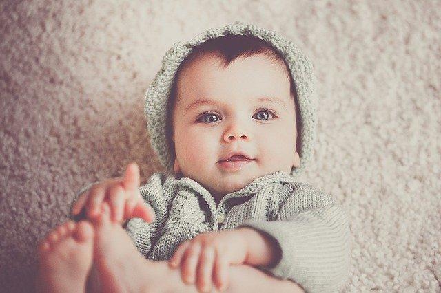 Babybilde med filter