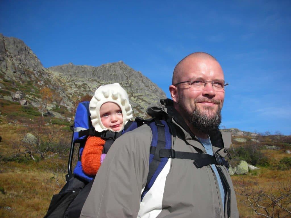 Mille og pappa Bjørn Erik